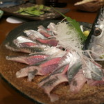 jige - 秋刀魚の刺身