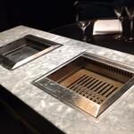 nishiazabuyakinikuten - 専用焼き台