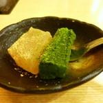竹なか - デザートのわらび餅も共通