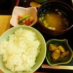 竹なか - 白米と炊き込みから選べました。