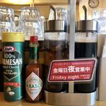 横浜ナポリタン PUNCH - 卓上調味料