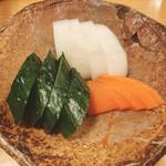 きくち - 雑炊セット(漬け物)