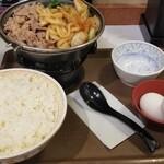 すき家 - 牛すき鍋定食 並(780円)/定食ごはん 大盛(30円)/牛すき鍋肉 2倍盛(200円)