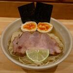 迂直 - 料理写真:☆【迂直】さん…鰹昆布出汁特製・醤油つけ麺(≧▽≦)/~♡☆
