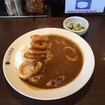 CoCo壱番屋 - イカカレーにオクラ山芋