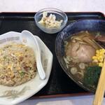 道産麺 - 料理写真:チャーハンセット(手打ち醤油ラーメン)