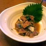 五反田 昭月庵 - このなめろうも美味い。生臭さはりません。