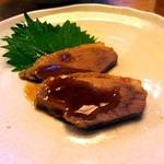 五反田 昭月庵 - 鴨肉もジューシーで柔らかい。