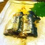 五反田 昭月庵 - 特性オイルサーディンです。絶品