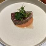 Osteria OLMO - 氷見ブリのフルーツトマトとイチゴのソース