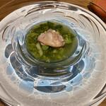 Osteria OLMO - 三重県産ハマグリのアオサスープ