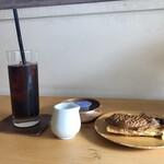 Cercle Dish and Coffee - 丹波黒さや大納言+クリームチーズのたい焼きとアイスコーヒー