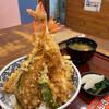 大えび天専門店 さんき - 料理写真:自慢のえび天4本 びっくり天丼 1530円+税