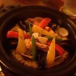 Bar CERO - 魚介たっぷりの炊き込みパエリア