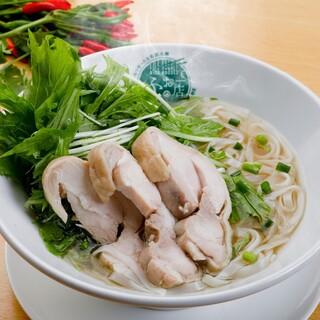 【名物のフォー!】天然水・自然力栽培のお野菜、自家製麺を使用