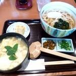 銀座 木屋 - 玉子雑炊セット(うどん)