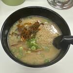 長浜ラーメン力 - 辛子高菜は凄く辛いです。