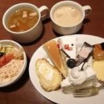 スイーツパラダイス - まずは! こんな感じでスタート 野菜のスープもすごく美味しかった