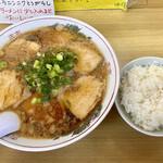尾道ラーメン 味億 - 料理写真:チャーシューメンとライス小