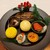 ジョルオーネ - 料理写真:色鮮やかな和洋折衷のお料理がズラリ!季節の前菜盛り合わせ5種は、食べるのがもったいなくなる華麗な盛り付け