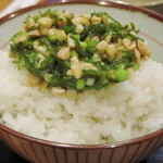 14625123 - メカブ納豆かけご飯