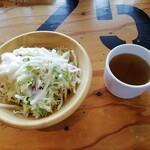 肉バルD.U.M.B.O - ランチ(サラダ、スープ)