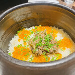 ebisukoubegyuushiorianyamashiro - 特選神戸牛の土鍋ご飯