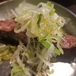四文屋 - 焼きとん串 レバごま塩(100円)