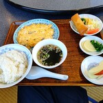 中国料理 你好 - 【2021.2.19(金)】本日のランチ(かに玉)880円