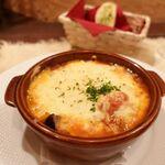 ビストロ・ラ・クッチーナ - なすと鶏肉のあつあつラザニア 1100円