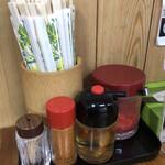 浜屋 - 料理写真:卓上調味料