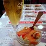 Indoresutoranandoresutoranshitoru - クーポン利用のグラスビールとショーモナイサラダ