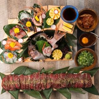 ロング肉寿司×海鮮料理◎