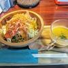 フェニックス - 料理写真:前菜!木のお盆に乗ってます!お箸で頂く!サラダの上のカリカリが良い!人参ポタージュほんのり甘コク!