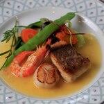 空の庭 自然レストラン - 料理写真:3種の海の幸ポワレ