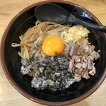 三代目 麺家 あくた川 - 料理写真:汁なし(並)ニンニクあり