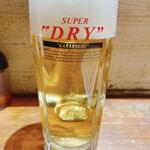 中国料理 かおたん - 生ビール 570円⇨350円