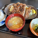 村民食堂 - 味噌山賊焼定食