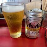 麺一盃 - 缶ビール✧◟(•⌄•ू)✧¥350円