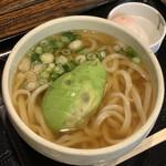 太常うどん - アボカドうどん ¥700(温泉玉子¥100)