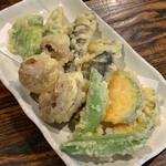 太常うどん - 野菜天ぷら盛合せ