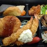 光屋 - エビフライ・コロッケ弁当(おかずのみ)