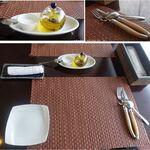 シェ モン アミ - 本日のランチ+鴨肉に変更。シェ モン アミ(愛知県みよし市)食彩品館.jp撮影