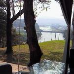 14631725 - 球磨川を見下ろす絶景の座席で