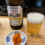 Sushizen - 瓶ビール&雲丹クラゲ