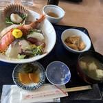 道の駅 多々羅しまなみ公園 - 水軍海鮮丼 1,650円