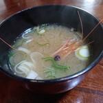 吉江寿司 - ランチ、エビの味噌汁