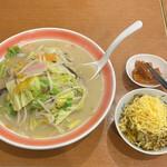 浜ちゃんぽん - 料理写真:ちゃんぽん高菜めし@860(辛味メンマはサービスコーナーから)