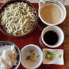 蕎舎 - 料理写真:「十割そば」@1120+「麦飯とろろ」@450(税込)  *どちらも限定20食*