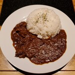 松阪牛焼肉&熟成牛タン 肉兵衛 - 上空から 松坂牛カレーライス大盛